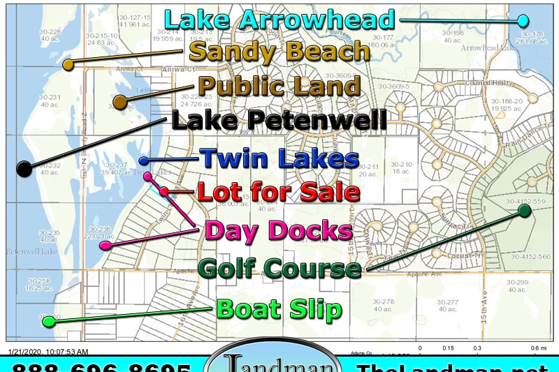 Twin Lakes Lot for Sale & Boat Slip by ATV Trails