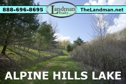 1802835, Deeded Access Lot for Sale Alpine Hills Lake by ATV Riding